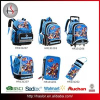 BSCI audit wholesale trolley school bag for kids