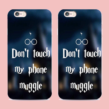 Don't touch my phone muggle Harry Potter Custom Phone Cases for iPhone