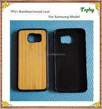 Good wood phone cases, TPU + bamboo phone covers, bamboo cases for Samsung Galaxy S6