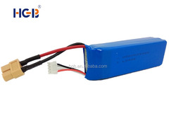 3-cells rechargeable battery HGB854396 customized lithium ion battery pack 11.1V 2600mAh 25C 3S1P
