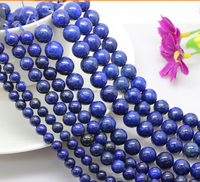 8mm best quality afghan round lapis lazuli string wholesale natural gemstone beads