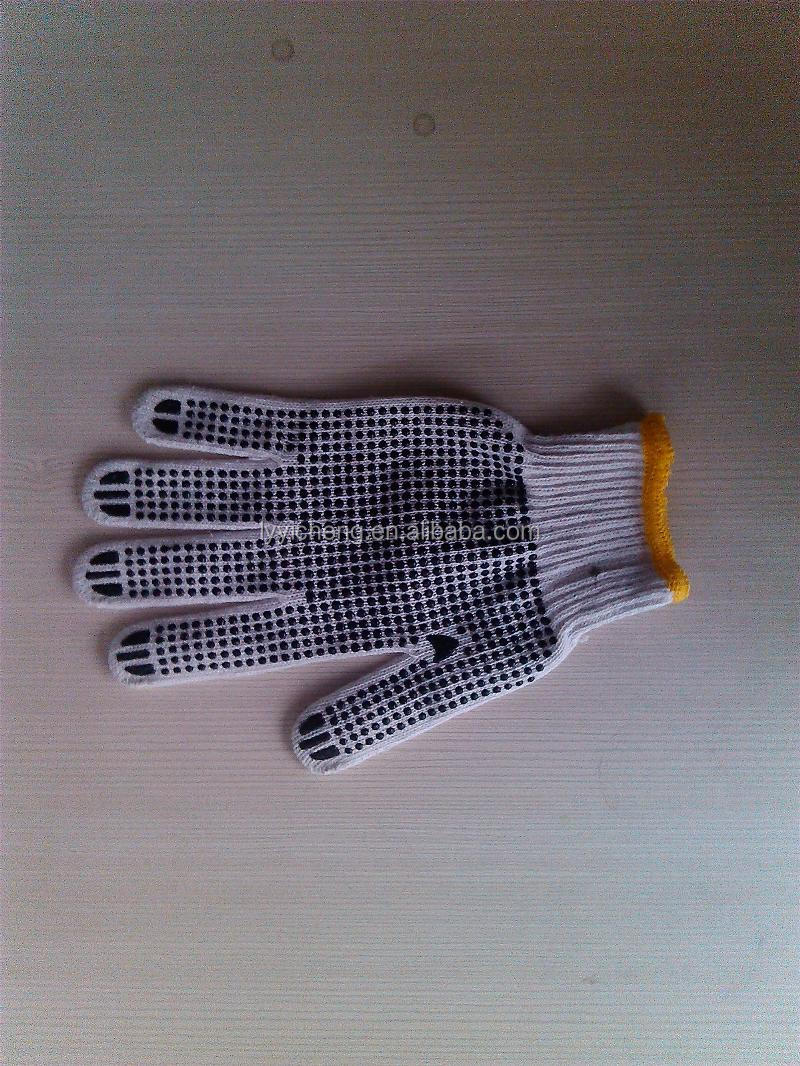 pvc dotted cotton glove/childrens cleaning gloves