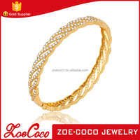 Gold Plated Fashion Jewellery 24K 18K Gold Bangle Saudi Arabia Jewelry Gold Bangle Bracelets