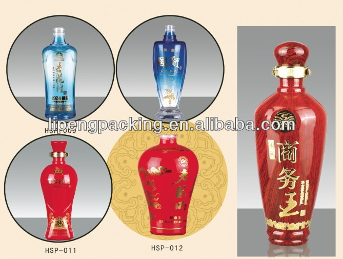 Elegant appearance glass bottle