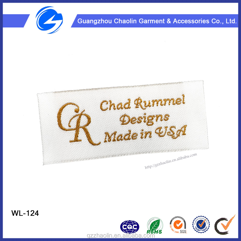 Factory weaving machine manufactures clothing fashion woven label