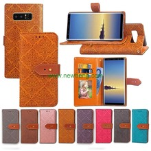 Premium pu leather smart phone case for Samsung Note 8