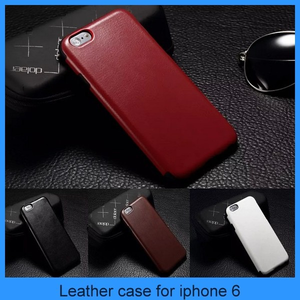 "New For Apple iPhone 6 Luxury PU Leather Case 4.7"" 5.5"" Cover Soft Silicone Bumper iphone 6 back cover"