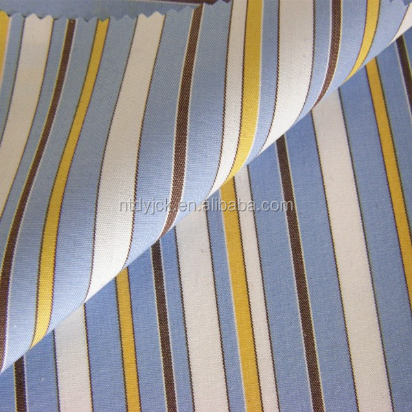 t-shirt blue and white stripe fabric of yarn dyed