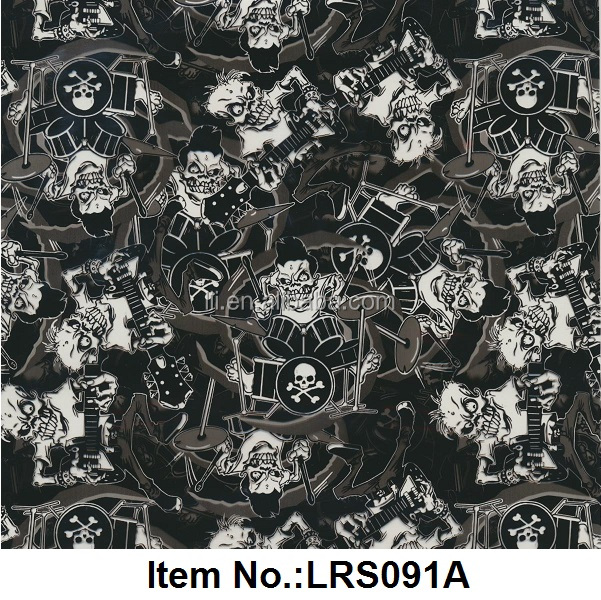 Exclusive Decorative Patterns Water Transfer Printing Film ,Hydrographic Film,100cm Width No.LRS091A