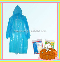 Logo Printed Disposable Transparent Raincoats One size Fit All