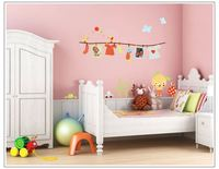 Free shipping ZY6016 Wall stickers carton clothes rack photo frame memory real child cartoon sofa bedroom wall stickers