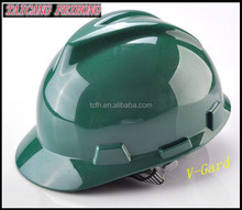 ABS material CE EN397 standard v gard safety helmet with chin strap