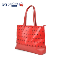 2016 new design fashion pu the plane hole handbag for women