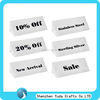 promotional acrylic triangle sale block holder white acrylic block display nameplate retail store block display holder
