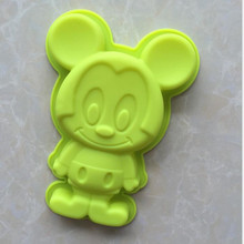 Mickey mouse novelty funny silicone animal shaped cake pan mold