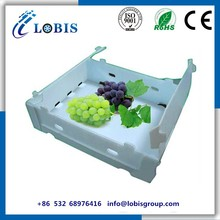 PP folding corrugated plastic storage boxes for fruit and vegetables