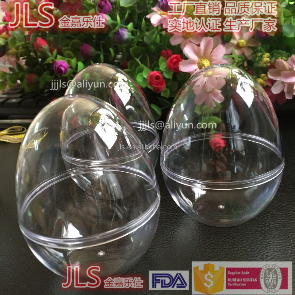clear or colorful plastic easter eggs shape for Party Supplies