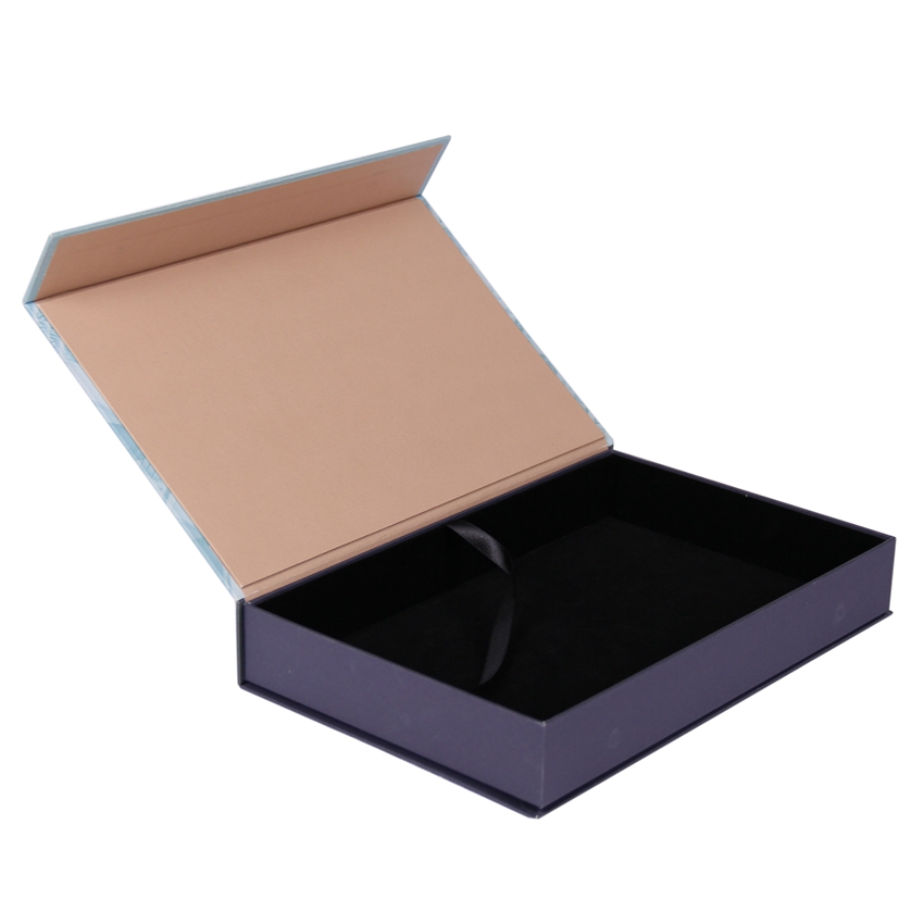 Handmade luxury flip top magnet packaging box with magnetic catch