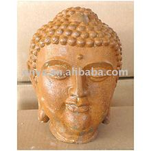 Metal Buddha Head Statue, religious crafts