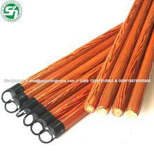 pvc coated hand wooden mop stick coconut broom sticks