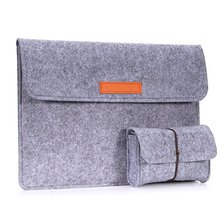 Hot sale custom size and logo felt computer bag
