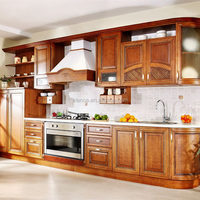 cheap melamine kitchen cabinet with solid wood door