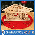 Wooden 3d DIY puzzle nativity puzzle for Christmas puzzles