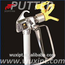 Swivel-free inlet connector Airless automatic paint spray gun