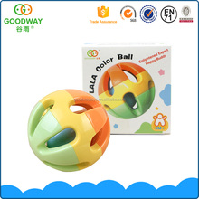 Cheap colorful kids plastic catch balls rattle toys baby bell ball