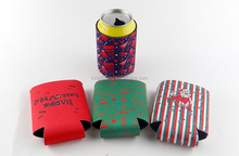 Christmas can cooler china supplier beer can cooler bottle holder wine bag
