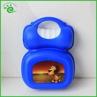 Colored Fancy Childrens Suitcase Lunch Box With Bottle
