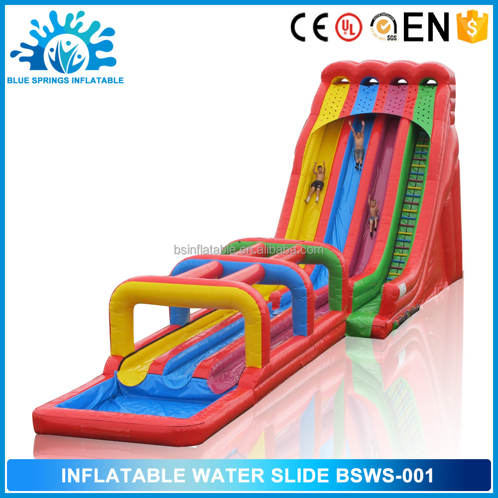 Blue Springs Outdoor Toys Commercial Inflatable Water Slide for sale