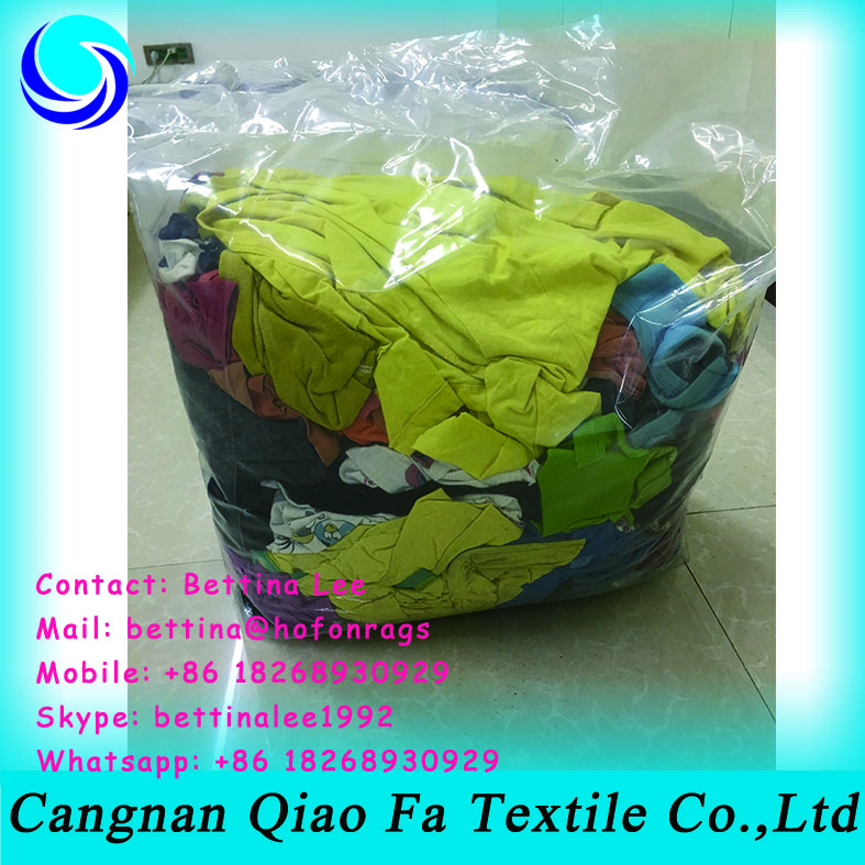 high raw cotton content colored cleaning oil wipers recycled wiping rags in bales price