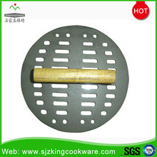 High quality round cooking cast iron bacon/meat press