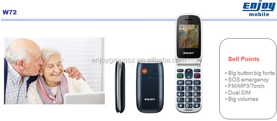2.2''screen big boutton with SOS FM Radio Flip phone voice changer smart phones low price china mobile phone for elderly