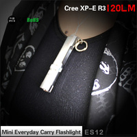 Best-seller special gift stainless steel gift keyring keychain mini led flashlight Tank007 ES12