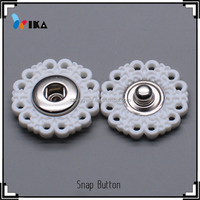 Resin combination clothing plastic snap button