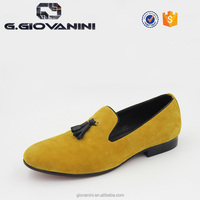 summer yellow nappa leather men loafer handmade shoes