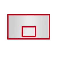 Standard size sport equipment glass fiber basketball backboard