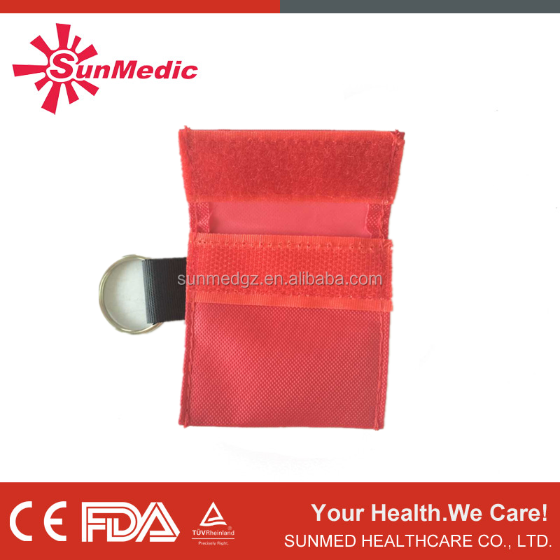 ST-101A CPR MASK in key-ring pouch with gloves