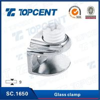 Zinc alloy cabinet glass holding clips clamp