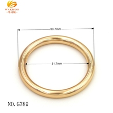 G790 Gold metal round ring buckle for bag fittings o-ring