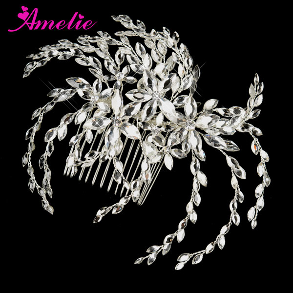 Rhinestone And Crystal Bridal Hair Pieces And Accessories