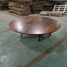 High quality solid wood slab with live edge tiger coffee table