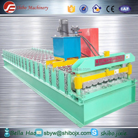 Large discount! Economy Hydraulic metal Wall sheet & roof profile tile color coated roll forming machine with PLC