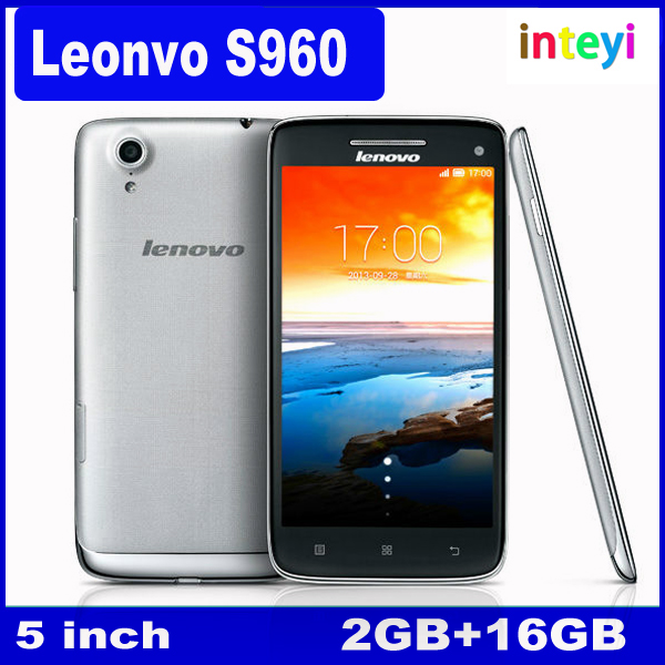 Newest Original Lenovo S960 5.0 inch 1920x1080 pixels MTK6589W Quad Core Phone 2GB RAM 16GB ROM 13MP Android 4.2 3G cell phone
