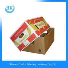 Printing Fruit Packaging Corrugated Cardboard Box With Handle