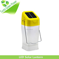 Yellow High power 0.5w led lights integrated portable solar lantern for home use