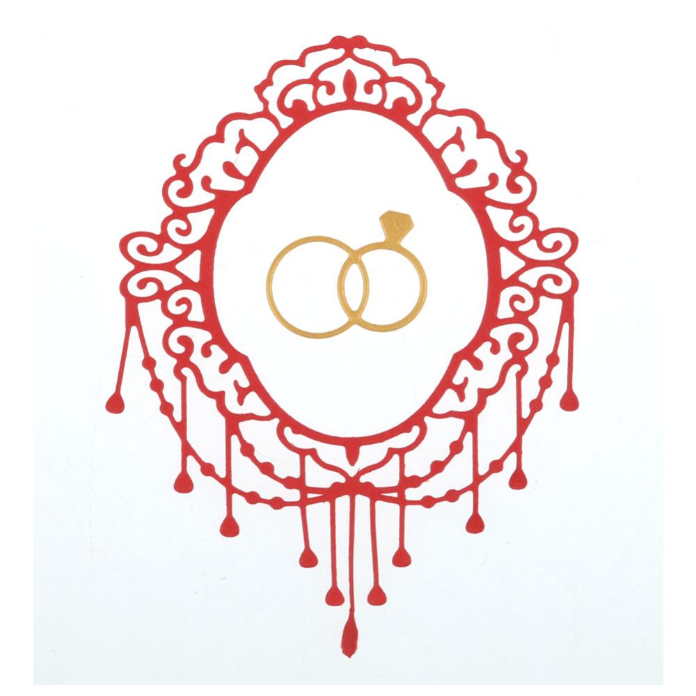 Wedding Ring Frame Metal Cutting Dies Stencils for DIY Scrapbooking ...