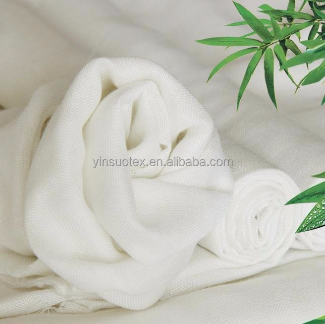 Bleached white soft cotton printed muslin fabric baby swaddle blanket 100% cotton muslin fabric